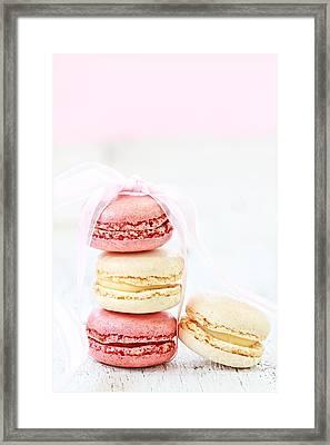 Sweet French Macarons Framed Print by Stephanie Frey