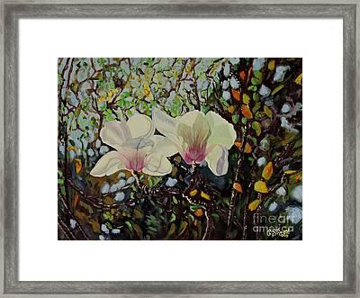 Sweet Magnolias Framed Print by Caroline Street