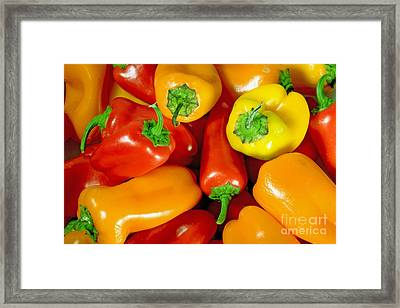 Sweet Peppers Framed Print by A New Focus Photography