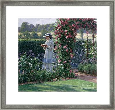 Woman In Hat Framed Print featuring the painting Sweet Solitude by Edmund Blair Leighton