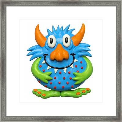 Sweet Spotted Monster Framed Print by Amy Vangsgard