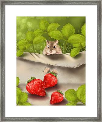 Sweet Surprise Framed Print by Veronica Minozzi