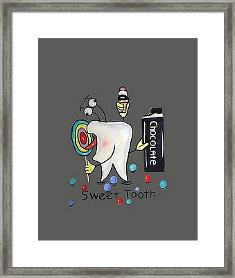 Sweet Tooth T-shirt Framed Print by Anthony Falbo