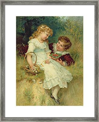Sweethearts Framed Print by Frederick Morgan