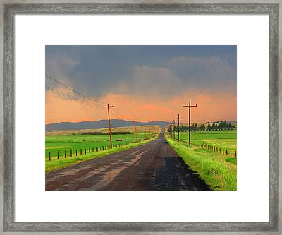 Sweetwater Drive Framed Print by Leah Grunzke