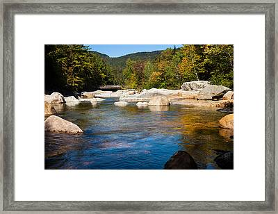Swift River View Framed Print by Sue OConnor