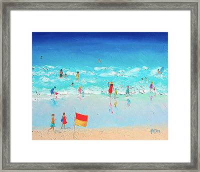 Swim Day Framed Print by Jan Matson