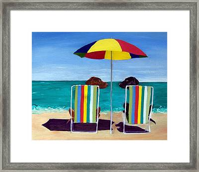 Swim Framed Print by Roger Wedegis