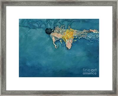Swimmer In Yellow Framed Print by Gareth Lloyd Ball