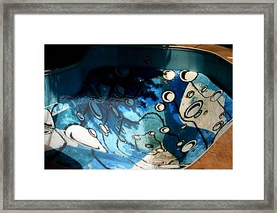 Swimming Pool Mural 2 Framed Print by Rachel Christine Nowicki