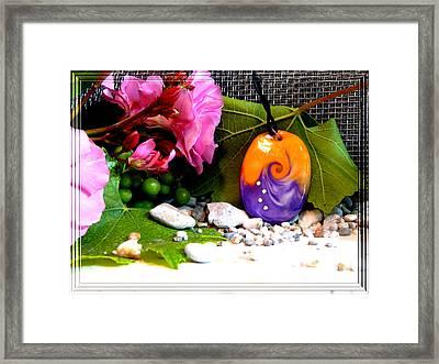 Swirl In Nature Framed Print by Chara Giakoumaki