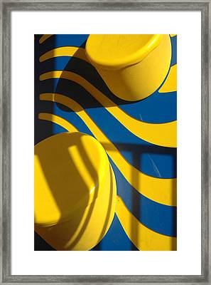 Swirls Of Fun Framed Print by Mickie Boothroyd