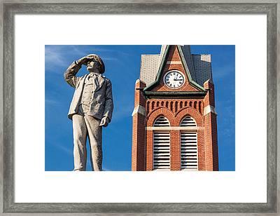 Swiss Settlers Monument Framed Print by Todd Klassy