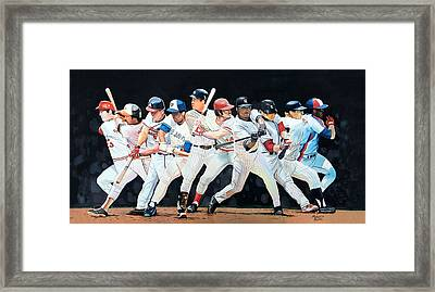 Switch Hitting Collage  Framed Print by Michael  Pattison