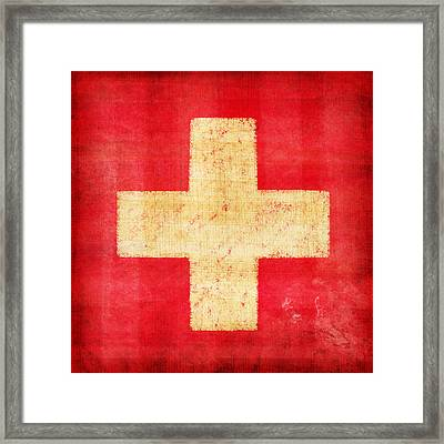 Switzerland Flag Framed Print by Setsiri Silapasuwanchai