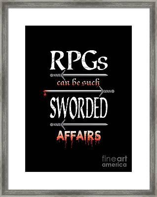 Sworded Affairs Framed Print by Jon Munson II