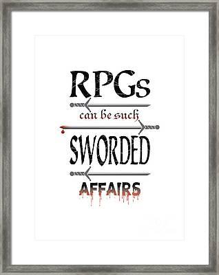 Sworded Affairs Light Framed Print by Jon Munson II