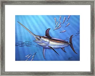 Swordfish In Freedom Framed Print by Terry  Fox