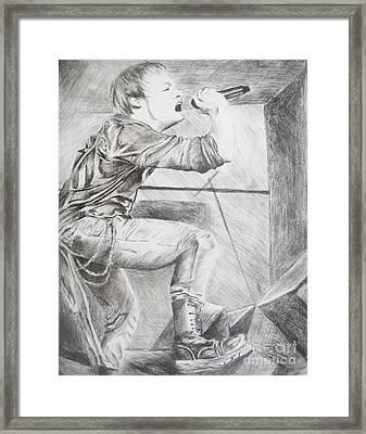 Sybreed - Ben Nominet Framed Print by Melissa Gallardo
