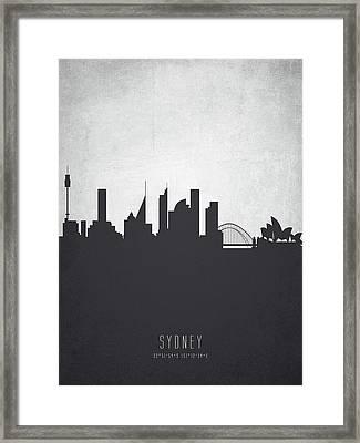 Sydney Australia Cityscape 19 Framed Print by Aged Pixel