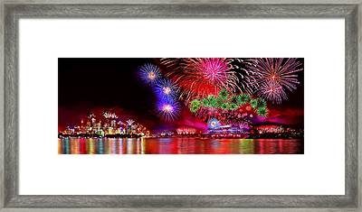Sydney Celebrates Framed Print by Az Jackson