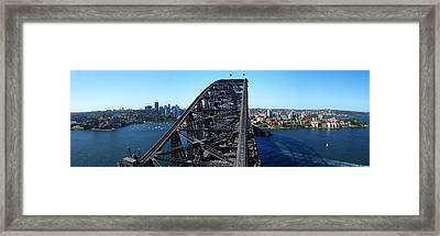 Sydney Harbour Bridge Framed Print by Melanie Viola