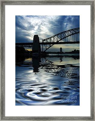 Sydney Harbour Bridge Reflection Framed Print by Avalon Fine Art Photography