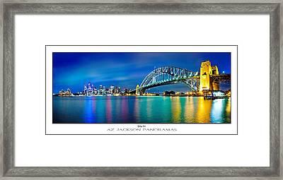 Sydney Icons Poster Print Framed Print by Az Jackson