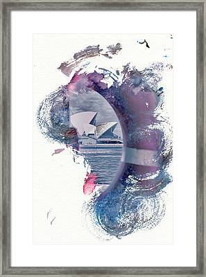 Sydney Opera House Abstract Framed Print by Az Jackson