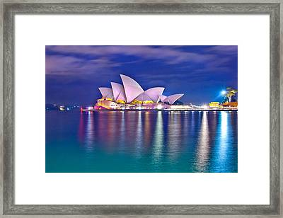 Sydney Opera House Pre Dawn Framed Print by Az Jackson