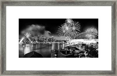 Sydney Spectacular Framed Print by Az Jackson
