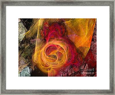 Symbiosis Abstract Art Framed Print by Karin Kuhlmann