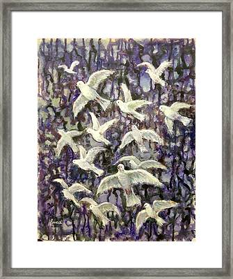 Symbol  Of Peace Framed Print by Laila Awad Jamaleldin