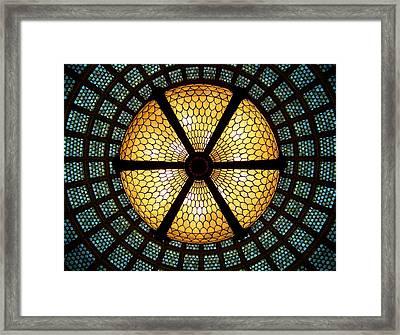 Symmetric Lights Framed Print by Matt Cangelosi
