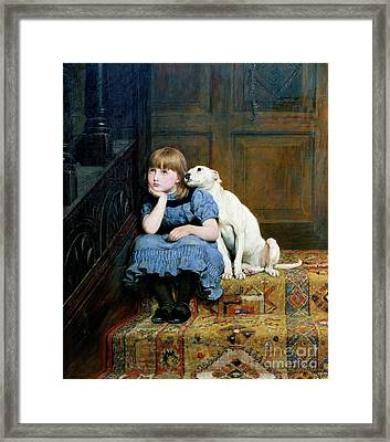 Sympathy Framed Print by Briton Riviere