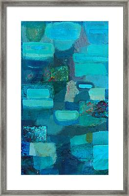 Symphony In Blue Framed Print by Habib Ayat