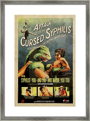 Syphilis Poster Framed Print by Andrew Fare