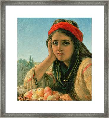 Syrian Fruit Seller Framed Print by William Gale