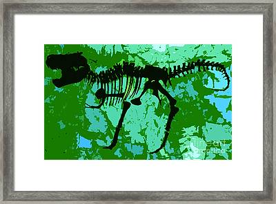 T. Rex Framed Print by David Lee Thompson