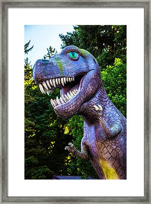 T-rex Oregon Woods Framed Print by Garry Gay
