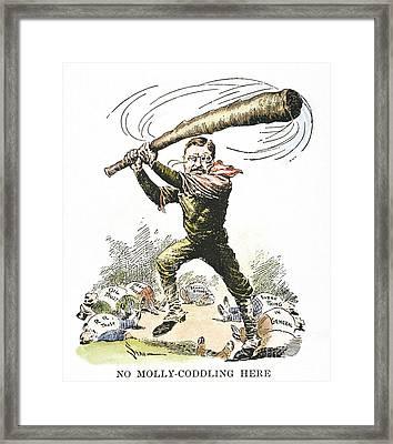 T. Roosevelt Cartoon, 1904 Framed Print by Granger
