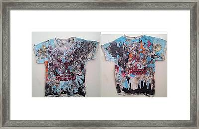 T-shirt Front And Back Framed Print by William Douglas