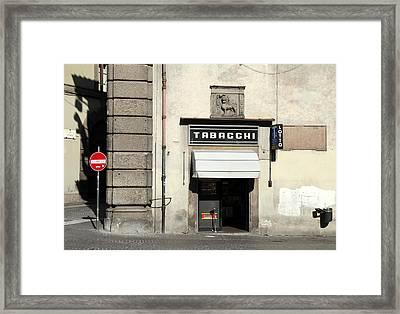 Tabacchi Framed Print by Valentino Visentini