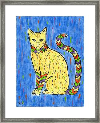 Tabby Kat Framed Print by Susie WEBER