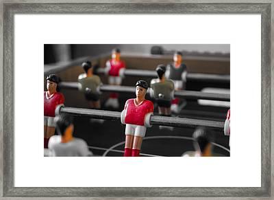 Table Football Framed Print by Martin Newman