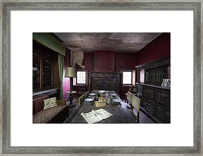 Table For Four - Abandoned Building Framed Print by Dirk Ercken