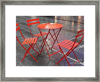 Table For Three Framed Print by Sarah Loft