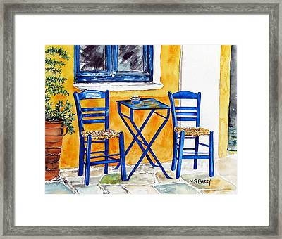 Table For Two Framed Print by Maria Barry