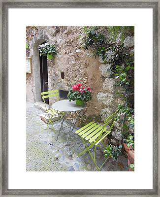 Table For Two Framed Print by Marilyn Dunlap