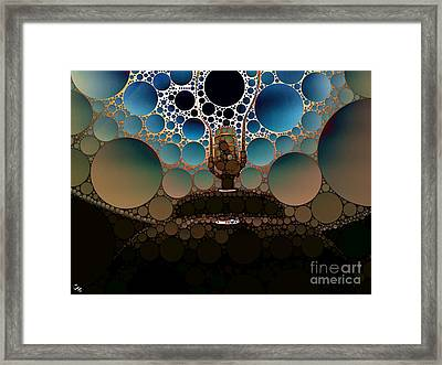 Table Lamp Framed Print by Ron Bissett